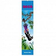 Kalendář nástěnný 2016 - Krteček - pohlednicový kalendář, 2016, 10,5 x 48 cm