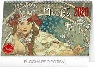 Kalendář stolní 2020 - Alfons Mucha, 23,1 × 14,5 cm