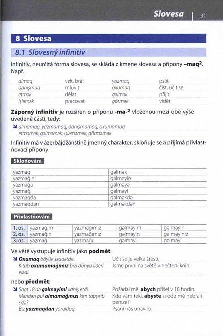 Náhled Přehled ázerbájdžánské gramatiky