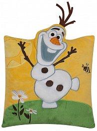 Polštářek Ledové království Olaf na louce