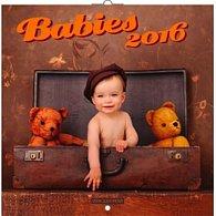 Kalendář nástěnný 2016 - Babies - Věra Zlevorová, poznámkový  30 x 30 cm