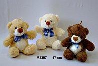 Plyšový medvídek s poutkem - 17 cm