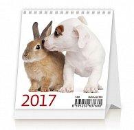 Kalendář stolní 2017 - Mini Pets