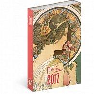 Diář 2017 - Alfons Mucha - týdenní
