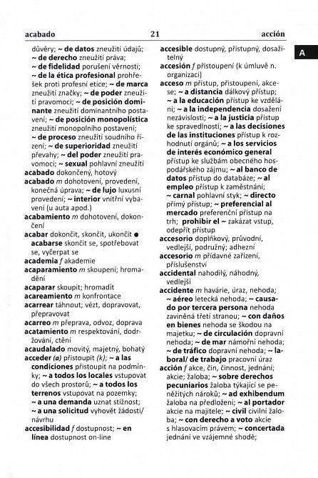 Náhled Španělsko-český, česko-španělský slovník pro obchod, právo a finance