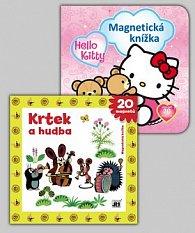 Balíček 2ks Magnet knížka Hello Kitty + Krtek a hudba