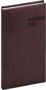 Diář 2014 - Tucson-Vivella - Kapesní, mahagonová (ČES, SLO, ANG, NĚM)
