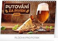 Kalendář stolní 2020 - Putování za pivem, 23,1 × 14,5 cm