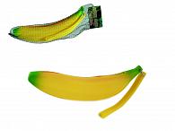 Penál silikonový na zip banán