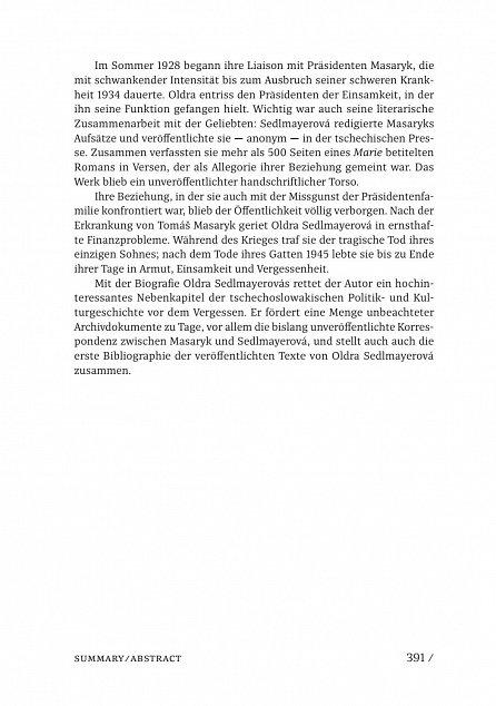 Náhled Utajená láska prezidenta Masaryka Oldra Sedlmayerová