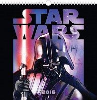Kalendář nástěnný 2016 - Star Wars Classic, poznámkový  21 x 21 cm
