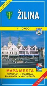 Žilina 1:10 000 Mapa mesta Town plan Stadtplan Plan miasta Várostérkép