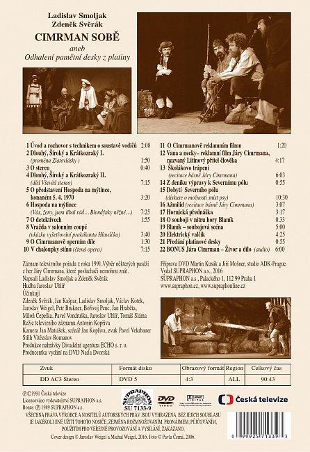 Náhled Divadlo Járy Cimrmana - Cimrman sobě aneb odhalení pamětní desky z platiny - DVD