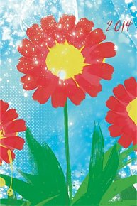 Diář 2014 - Akvarely - Týdenní magnetický (ČES, SLO, MAĎ, POL, RUS, ANG)