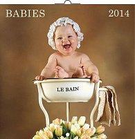 Kalendář 2014 - Babies Věra Zlevorová - nástěnný poznámkový (ČES, SLO, MAĎ, POL, RUS, ANG)