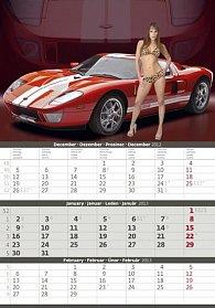 Kalendář nástěnný 2013 - Girls and Cars