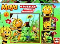 Puzzle Včelka Mája 4v1 6,9,12,16 dílků