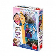 Ledové království - dětský metr a panoramic puzzle 150
