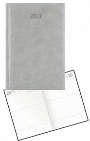 Diář koženkový 2012 - Print denní B6 - béžová
