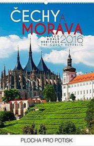 Čechy a Morava - nástěnný kalendář 2016