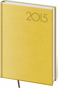 Diář 2015 - PRINT POP týdenní A5 - žlutá