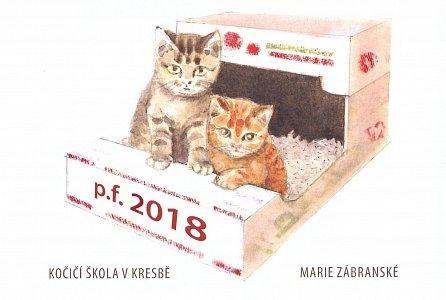 Náhled Kalendáře 2018 - Kočičí škola v kresbě