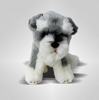 Pes knírač sedící - 25 cm