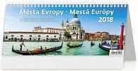 Kalendář stolní 2018 - Města Evropy