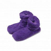 Fialové hřejivé botičky