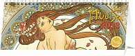 Kalendář 2013 stolní - Alfons Mucha, 33 x 12,5 cm