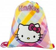 Taška na přezůvky Hello Kitty růžovo/žlutý s kostkami