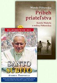 Balíček 2 ks Príbeh priateľstva Santo Subito Blahorečenie 2011