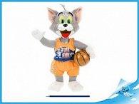 T&J Tom plyšový stojící s basketbalovým míčem
