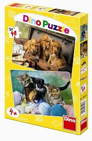Hravá Mláďátka - puzzle 2 motivy v balen