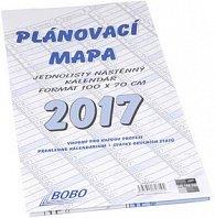 Plánovací mapa 2017 - nástěnný kalendář