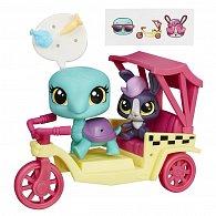 Littlest Pet Shop zvířátko s kamarádem a vozidlem