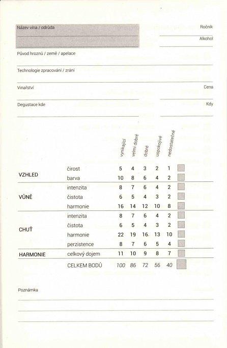 Náhled Degustační deník - notes