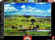 Puzzle Národní park TSAVO, Keňa  500 dílků