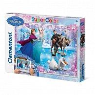 Puzzle Supercolor 60 dílků Ledové království App