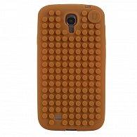 Samsung S4 Pixel Case Hnědá