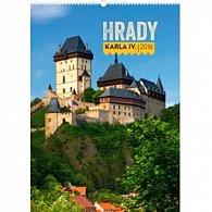 Kalendář nástěnný 2016 - Hrady Karla IV. - s českými jmény,  33 x 46 cm