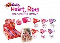 Razítko - prsten srdce,  display 36 ks