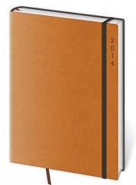 Diář 2014 - týdenní B6 Flexies - oranžová