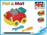 Auto Pat a Mat 13 cm šroubovací, 3 barvy v krabičce
