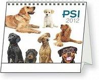 Kalendář stolní  2012 - Psi, 16,5 x 13 cm
