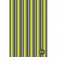 Diář 2014 - Pruhy zelené - Týdenní magnetické (ANG, NĚM, FRA, ITA, ŠPA, HOL)