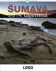 Kalendář 2014 - Šumava s českými jmény Praktik - nástěnný s prodlouženými zády