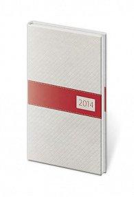 Diář 2014 - kapesní týdenní Eclisse - bílá/červená