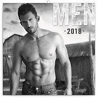 Kalendář poznámkový 2018 - Muži, 30 x 30 cm