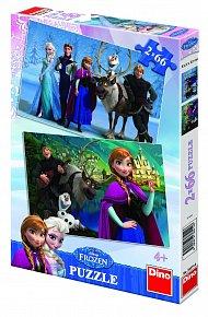 Puzzle 2 x 66 dílků Frozen